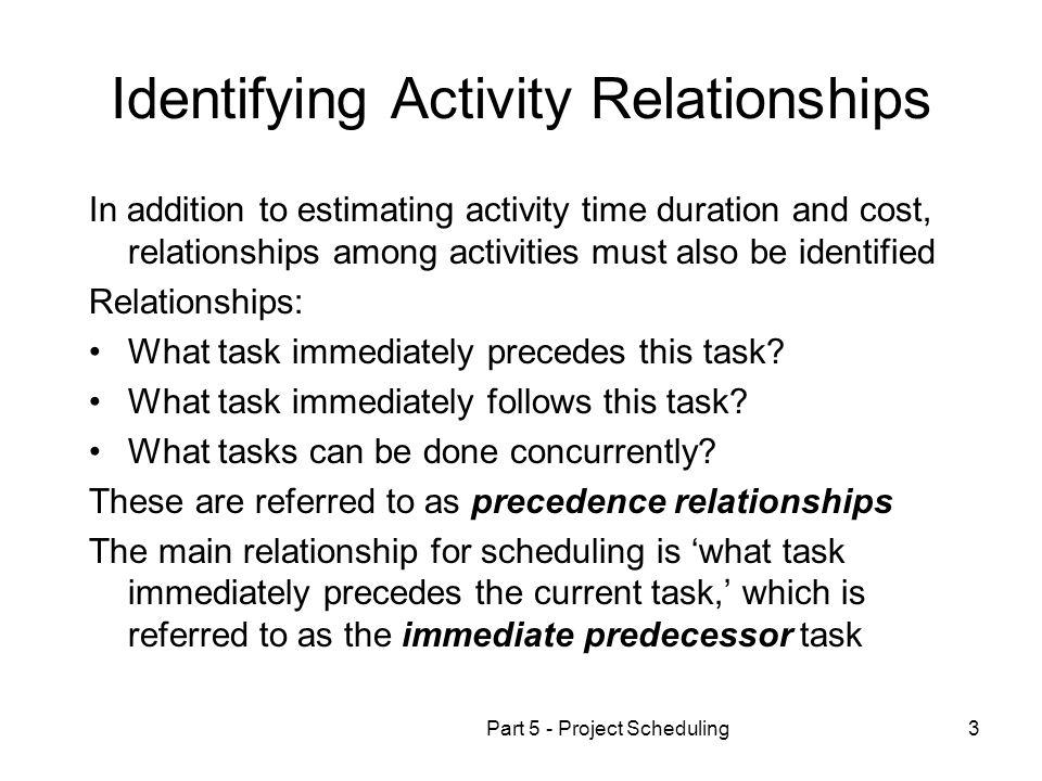 Identifying Activity Relationships