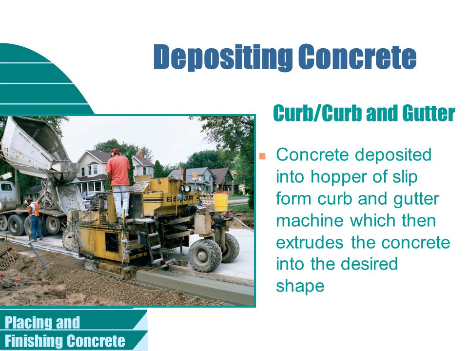 Depositing Concrete Curb/Curb and Gutter