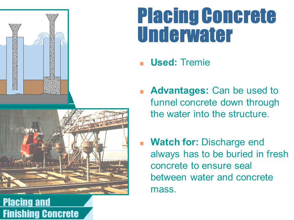 Placing Concrete Underwater