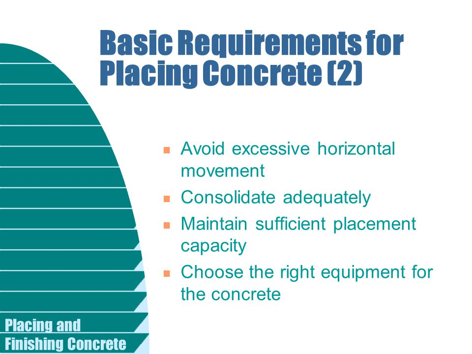 Basic Requirements for Placing Concrete (2)