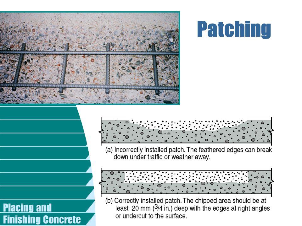 Patching Placing and Finishing Concrete