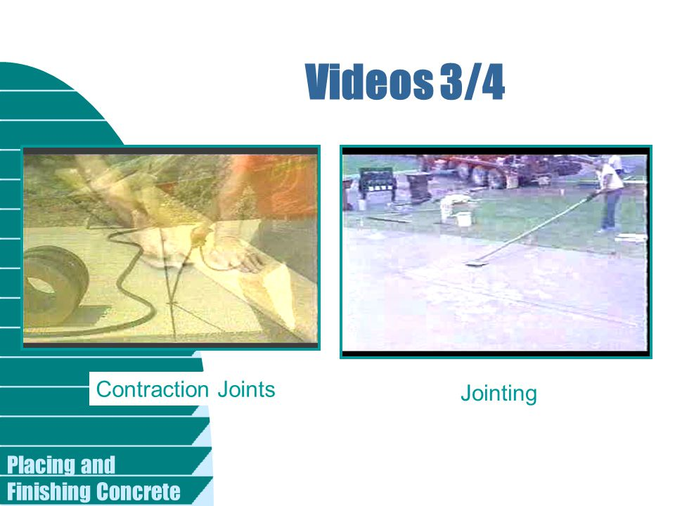 Videos 3/4 Contraction Joints Jointing Placing and Finishing Concrete
