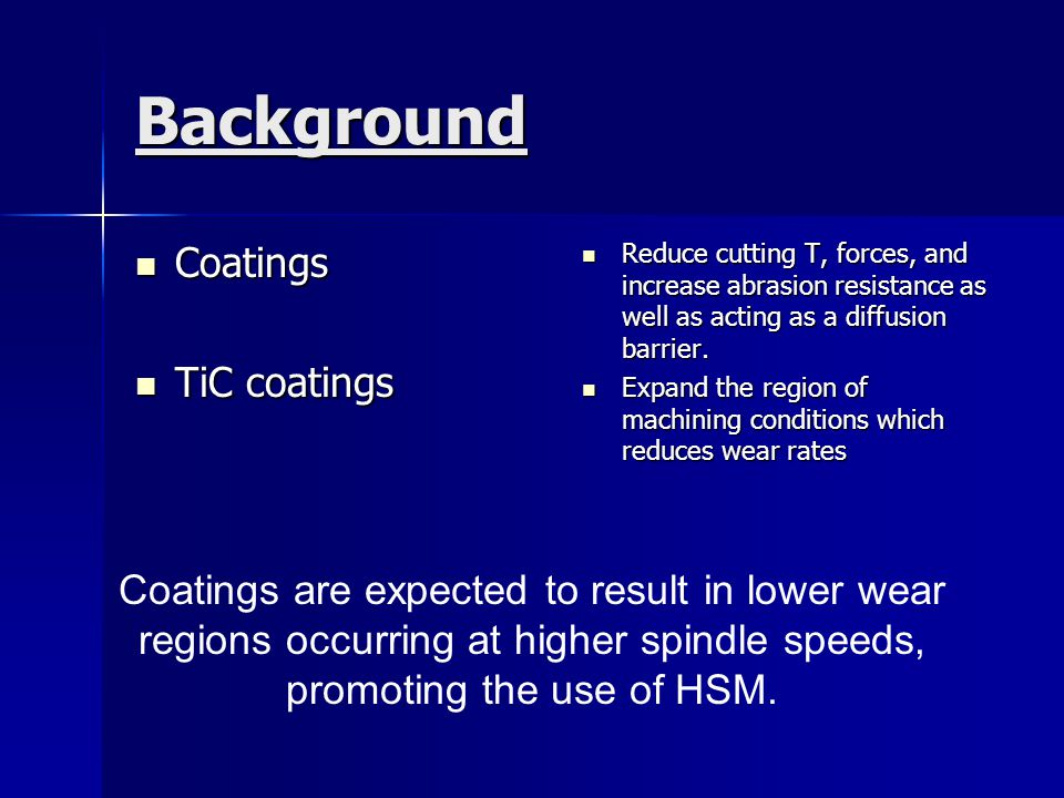 Background Coatings TiC coatings