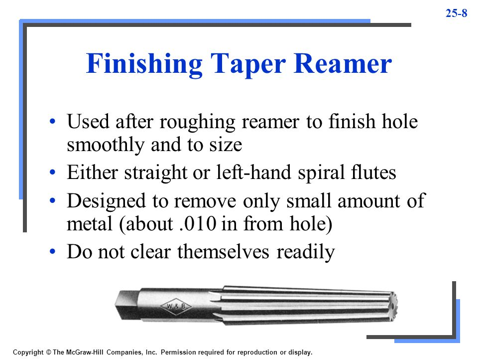 Finishing Taper Reamer