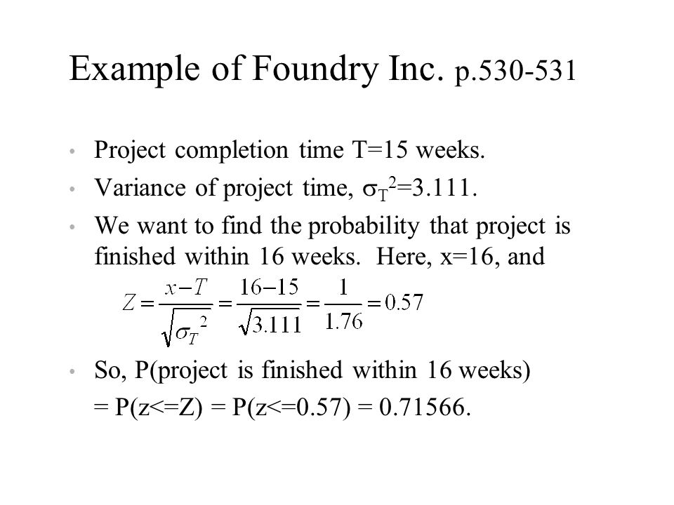 Example of Foundry Inc. p