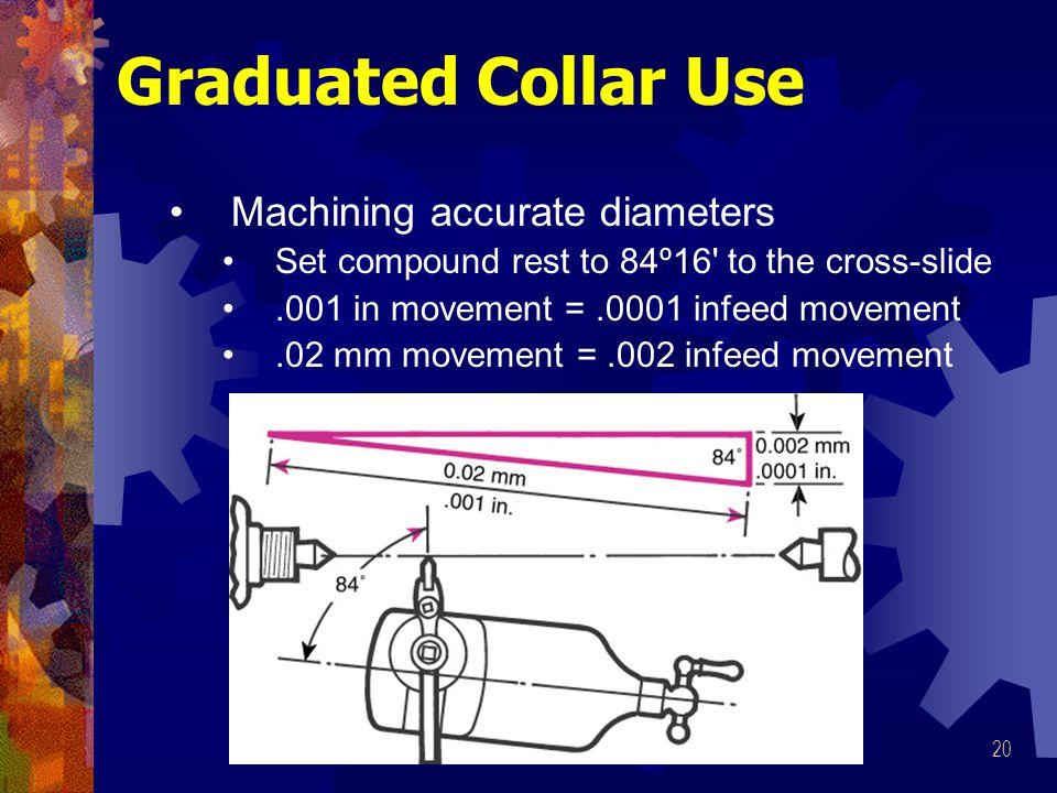Graduated Collar Use Machining accurate diameters