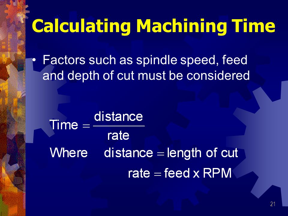 Calculating Machining Time
