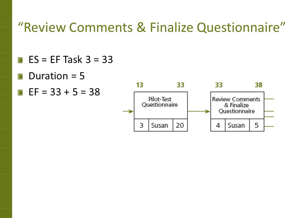 Review Comments & Finalize Questionnaire