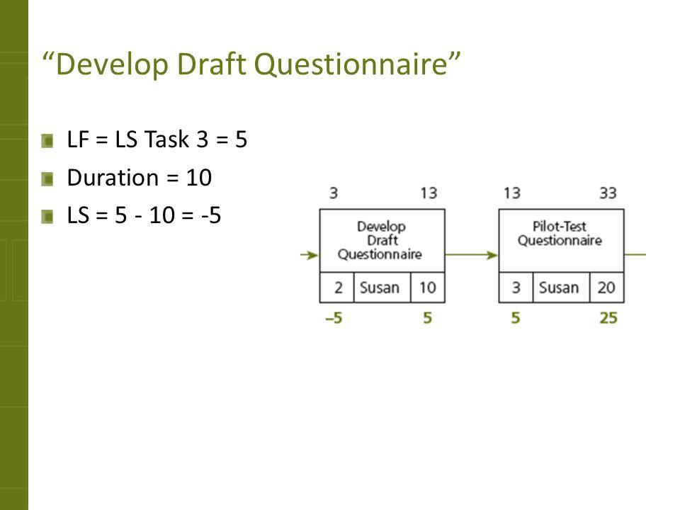 Develop Draft Questionnaire