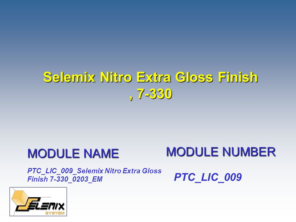 Selemix Nitro Extra Gloss Finish , 7-330