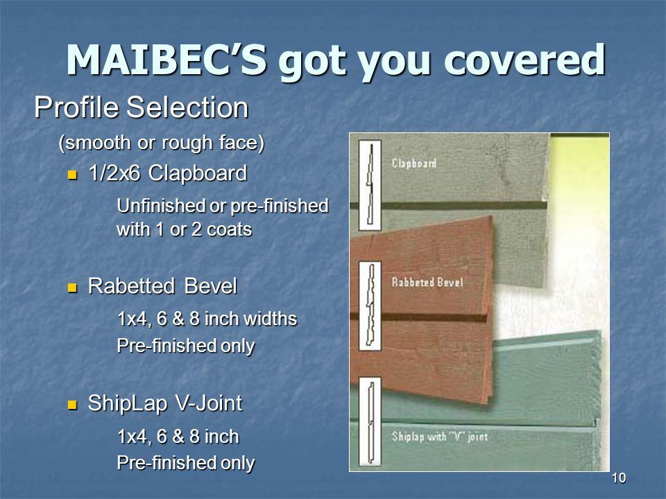 MAIBEC'S got you covered