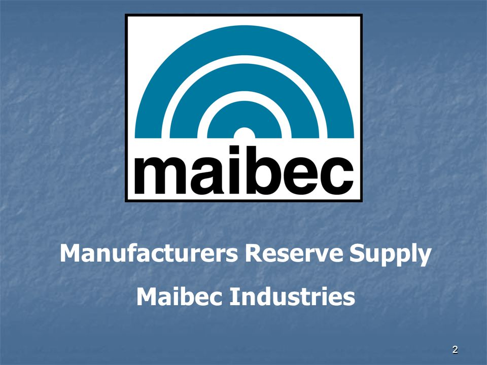 Manufacturers Reserve Supply