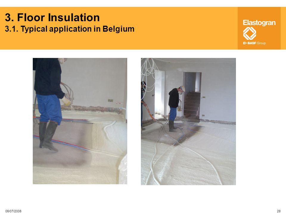 3. Floor Insulation 3.1. Typical application in Belgium