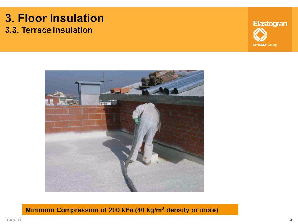 3. Floor Insulation 3.3. Terrace Insulation