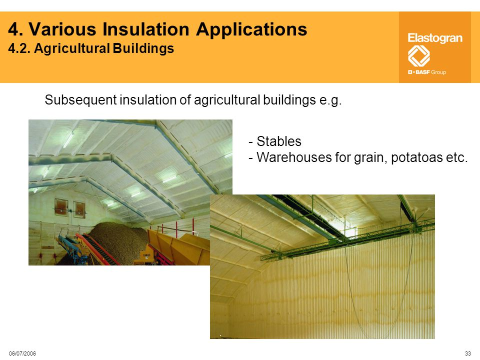 4. Various Insulation Applications 4.2. Agricultural Buildings