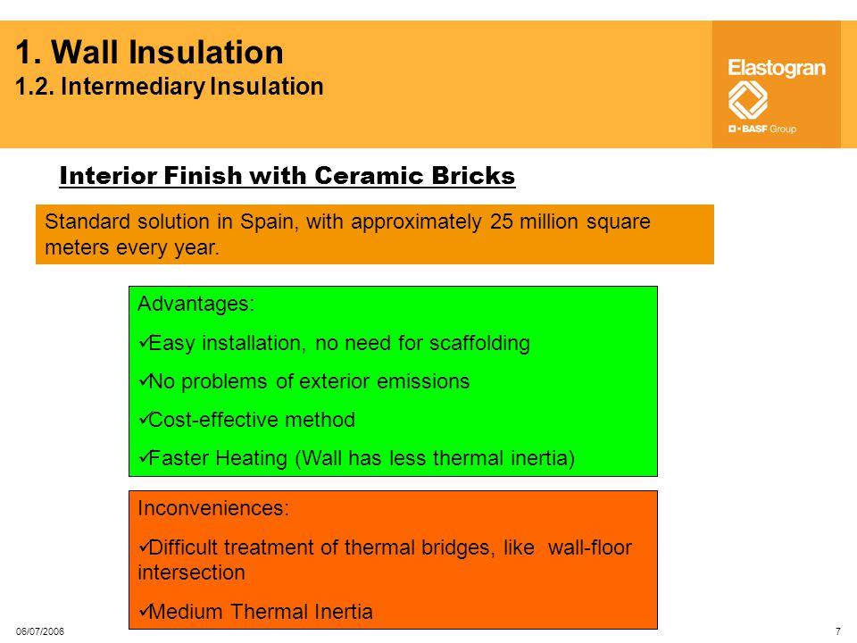 1. Wall Insulation 1.2. Intermediary Insulation