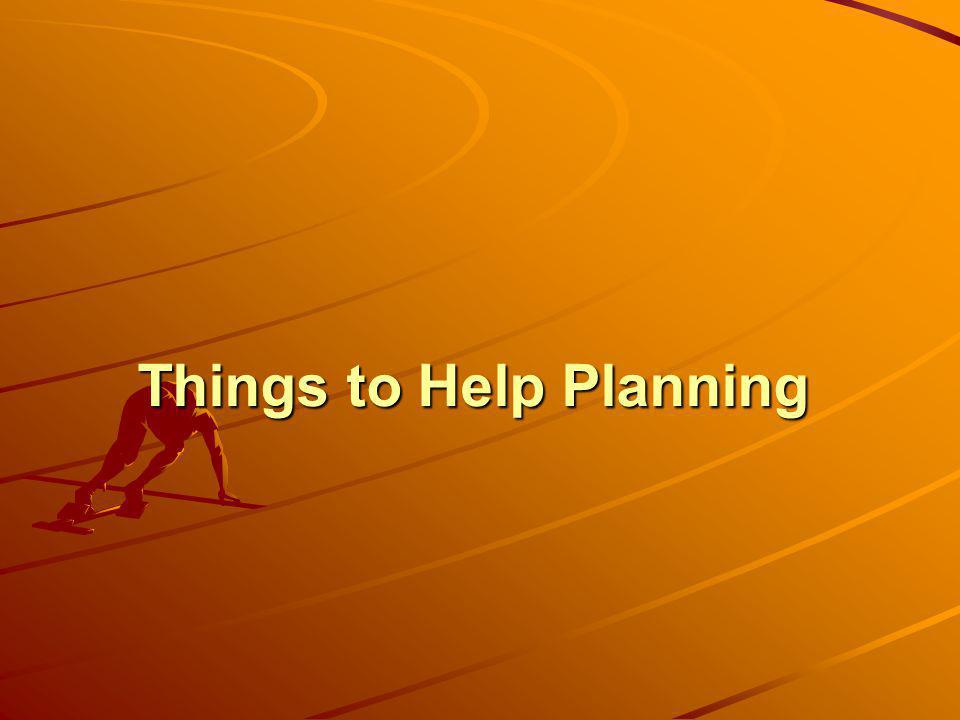 Things to Help Planning
