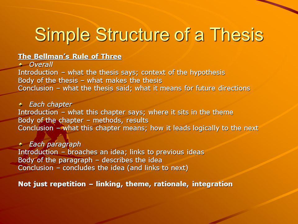 Simple Structure of a Thesis