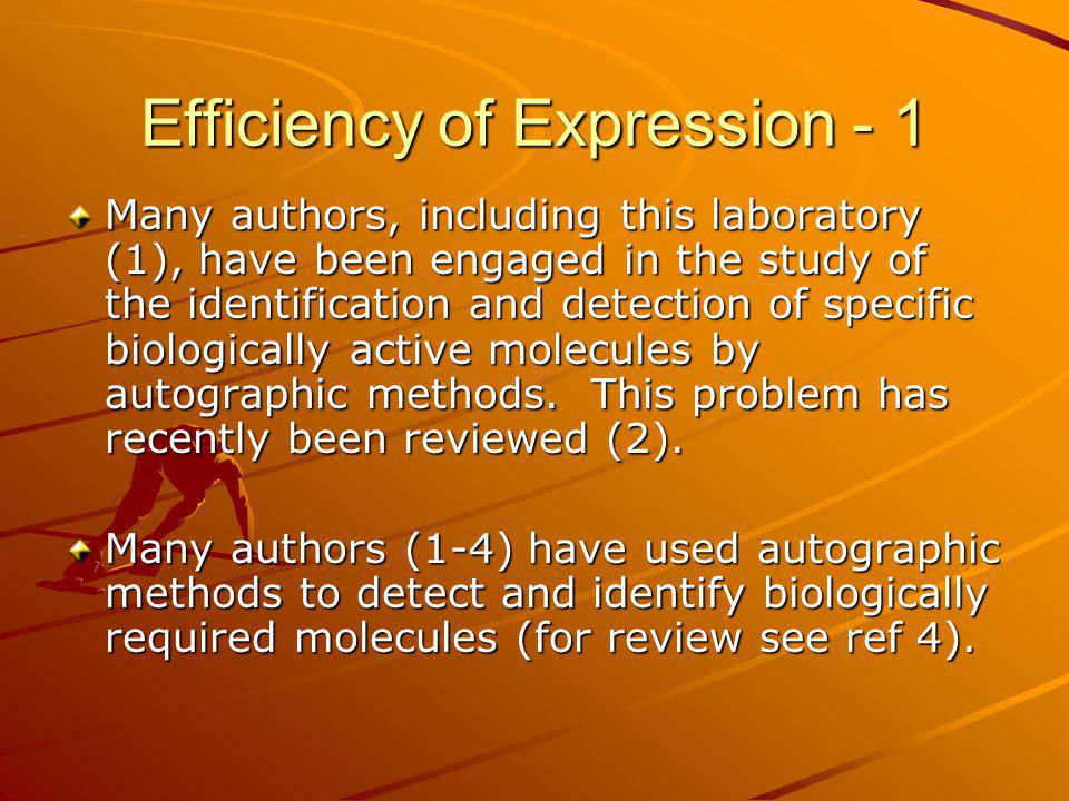 Efficiency of Expression - 1