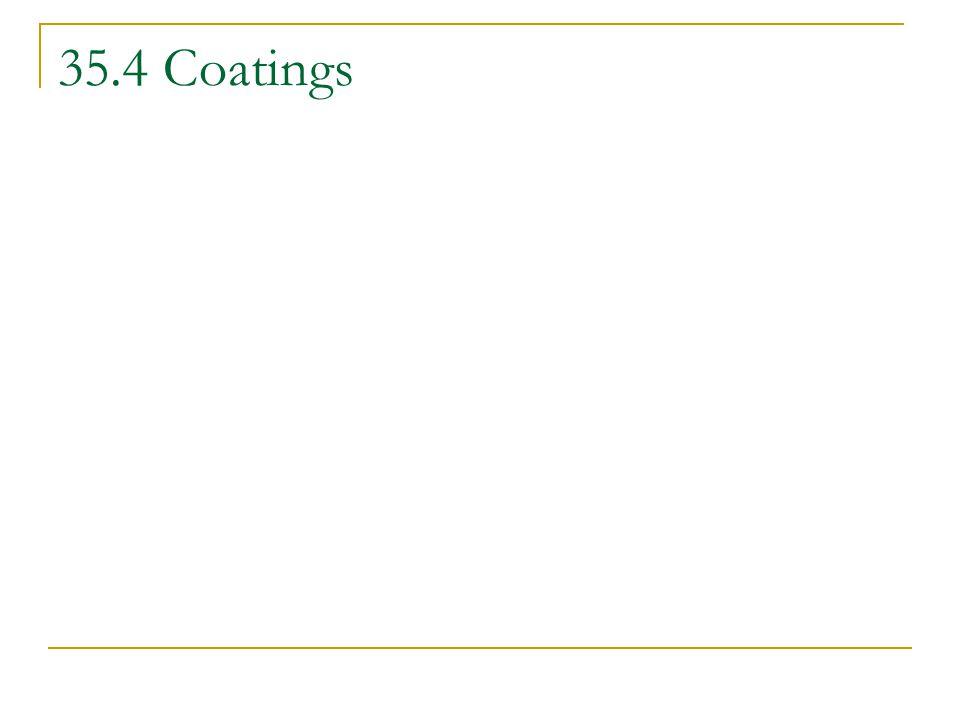 35.4 Coatings