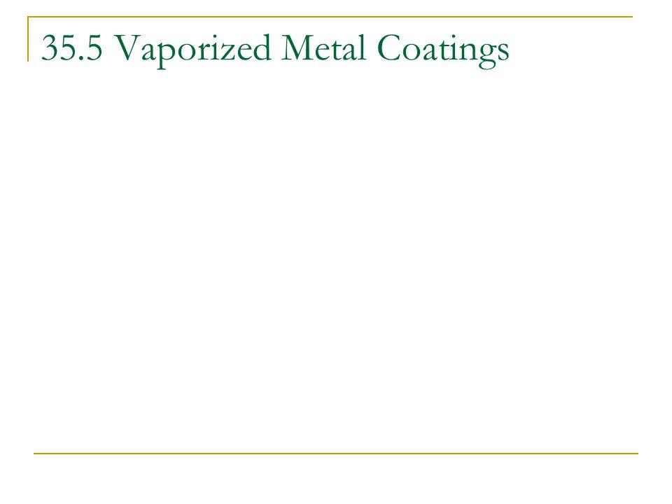 35.5 Vaporized Metal Coatings