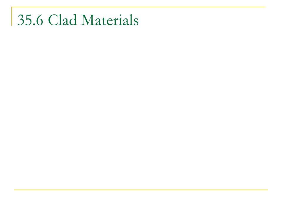 35.6 Clad Materials