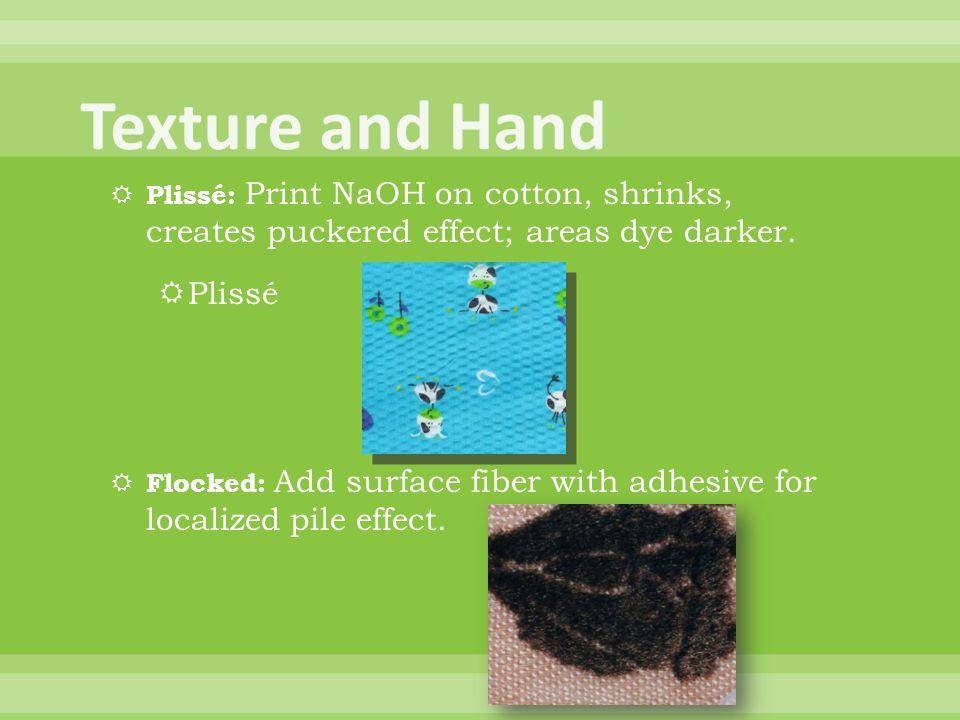 Texture and Hand Plissé