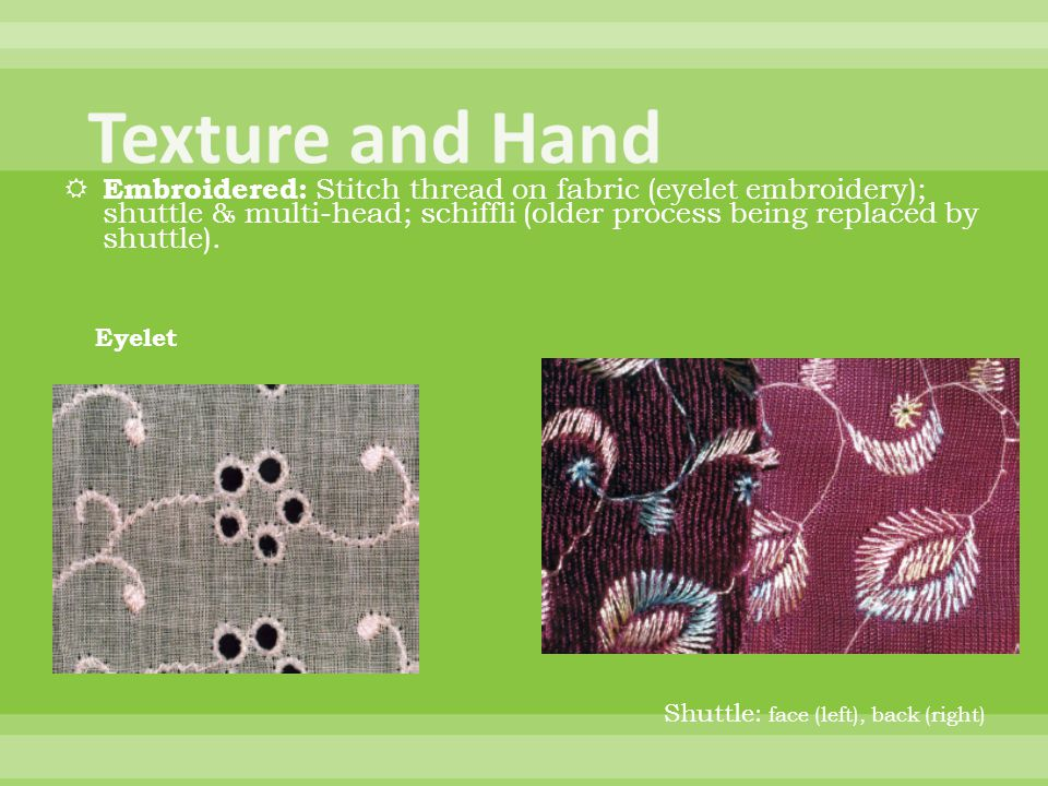 Texture and Hand