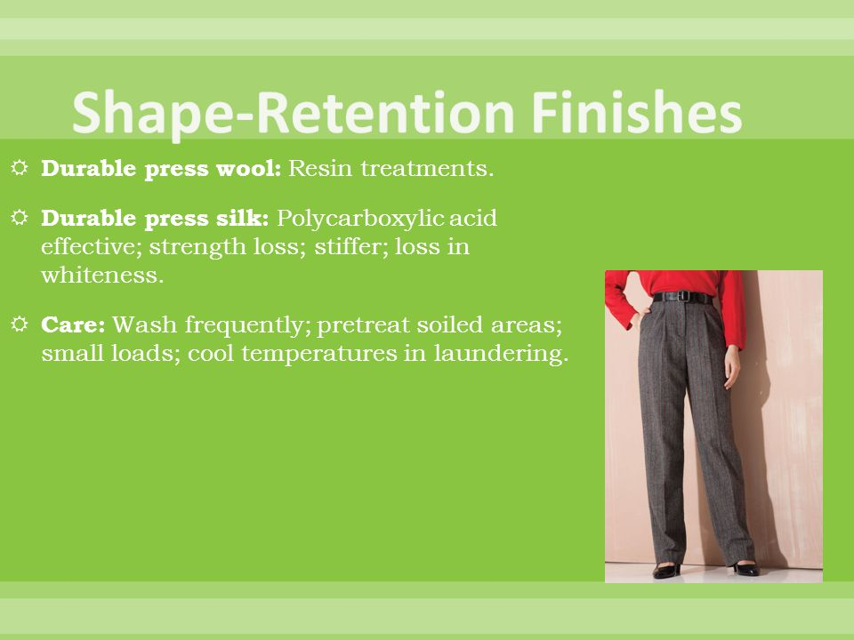 Shape-Retention Finishes