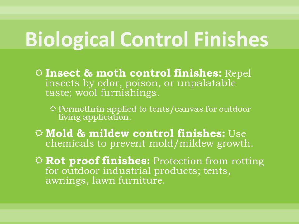 Biological Control Finishes
