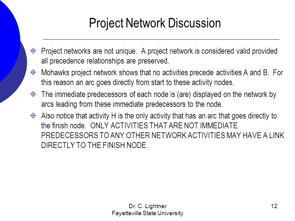 Project Network Discussion
