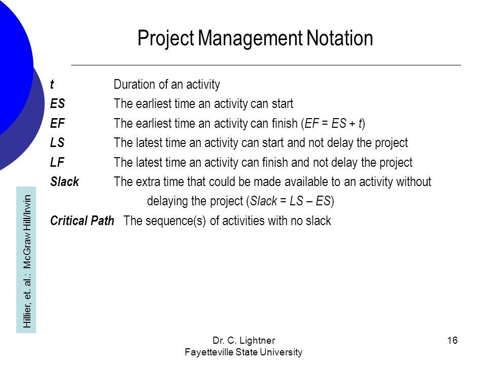 Project Management Notation