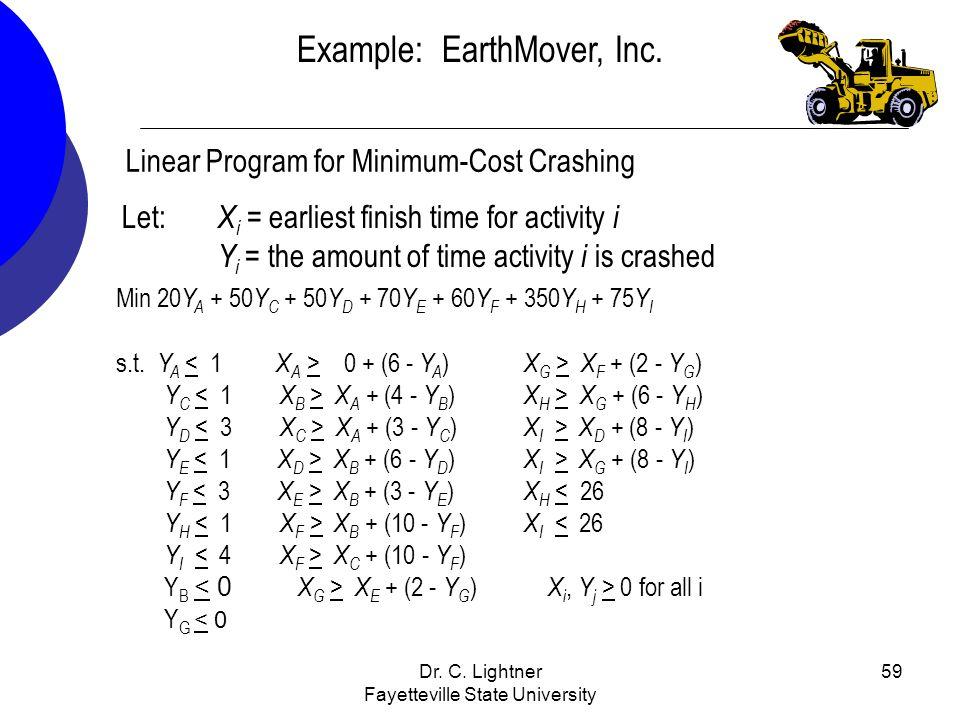 Example: EarthMover, Inc.