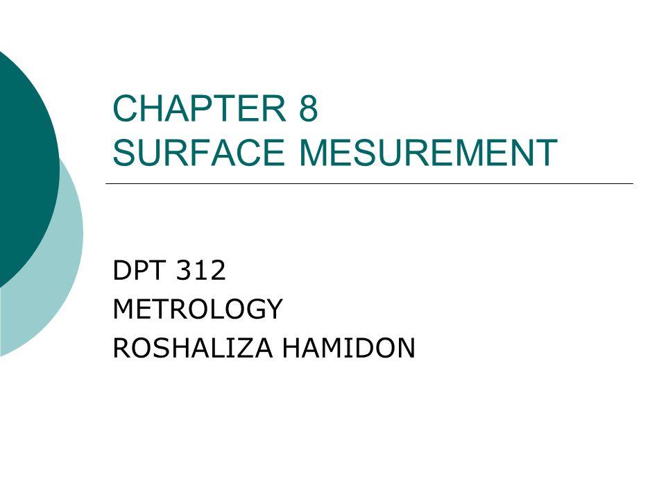 CHAPTER 8 SURFACE MESUREMENT