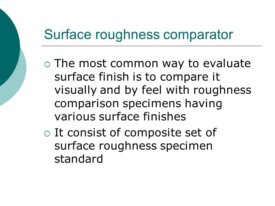 Surface roughness comparator