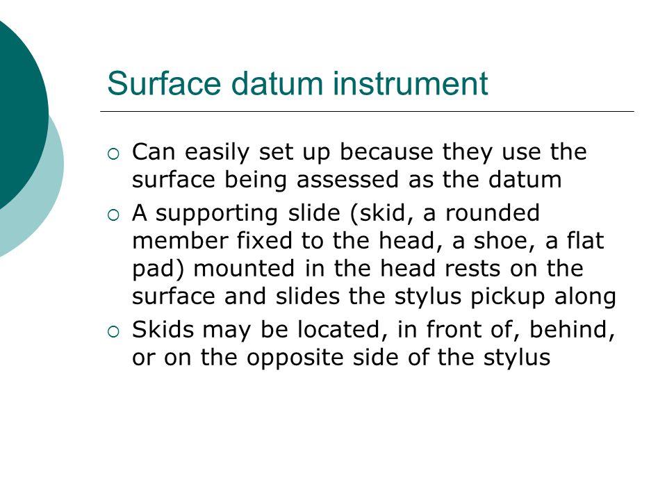 Surface datum instrument