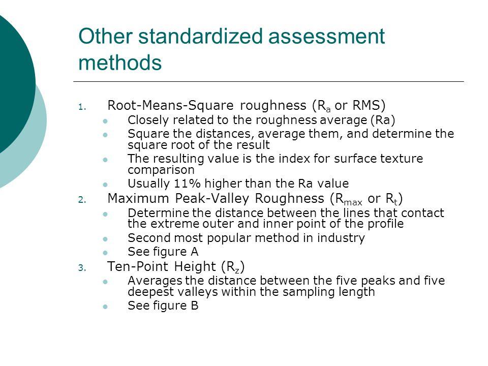 Other standardized assessment methods