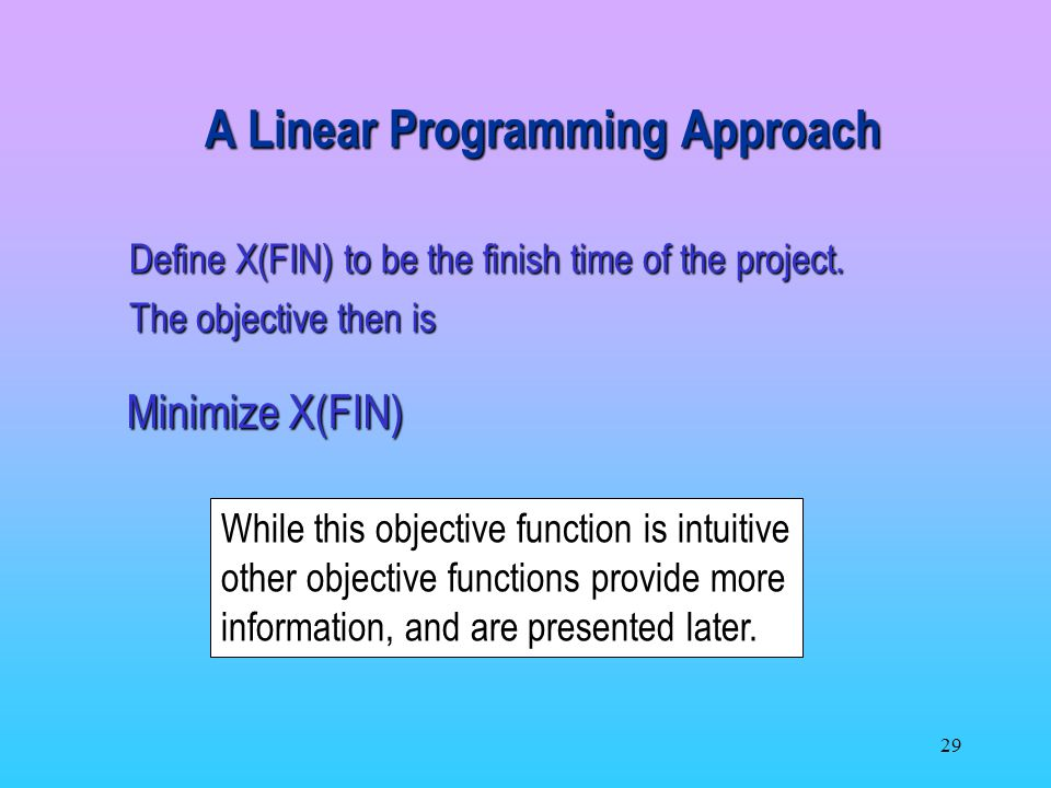 A Linear Programming Approach