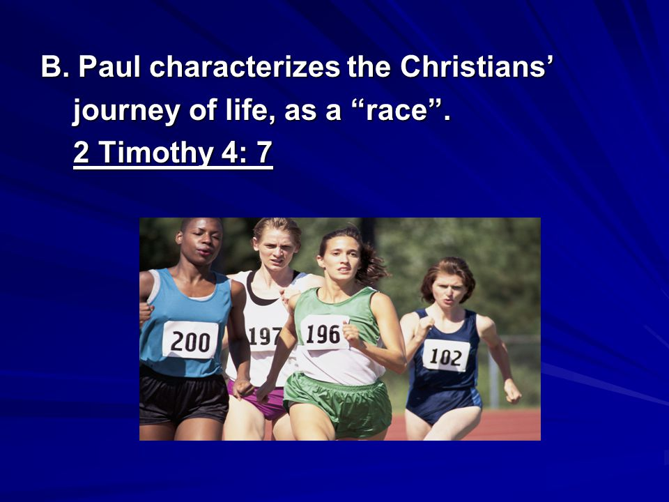B. Paul characterizes the Christians'