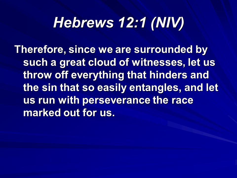 Hebrews 12:1 (NIV)