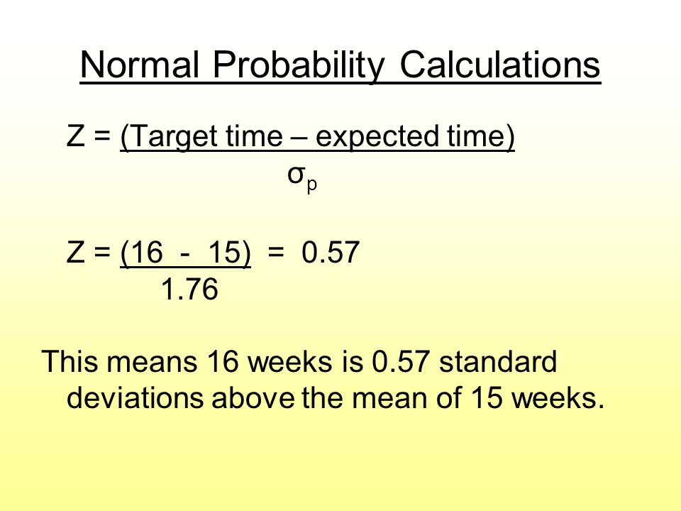 Normal Probability Calculations