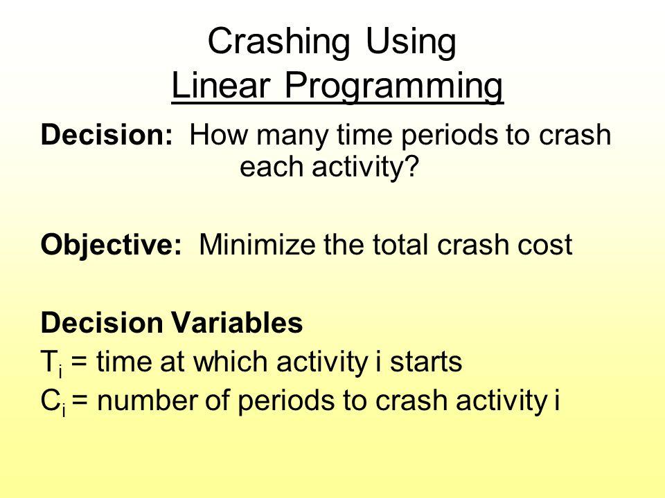 Crashing Using Linear Programming