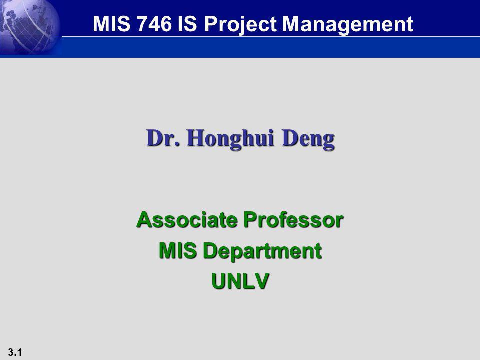 Associate Professor MIS Department UNLV