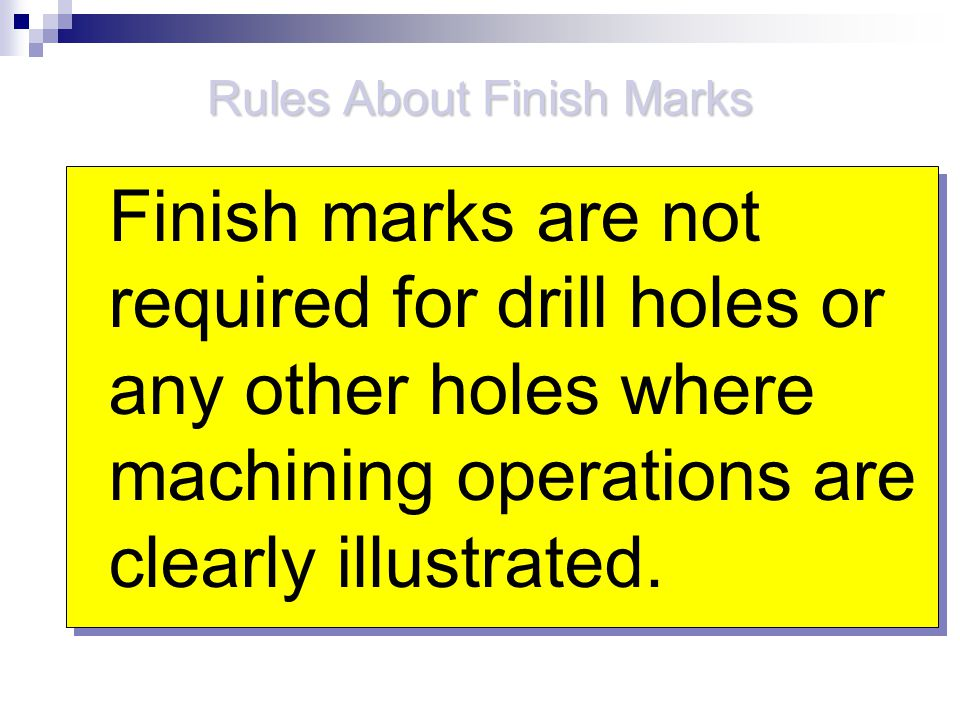 Rules About Finish Marks