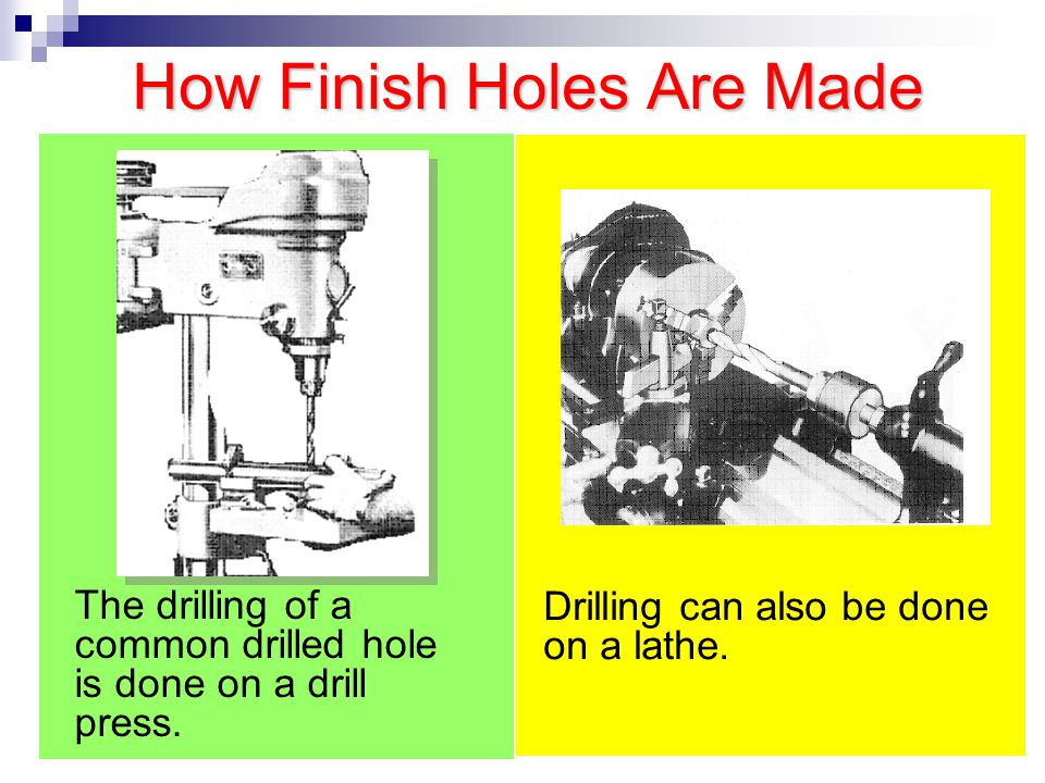 How Finish Holes Are Made