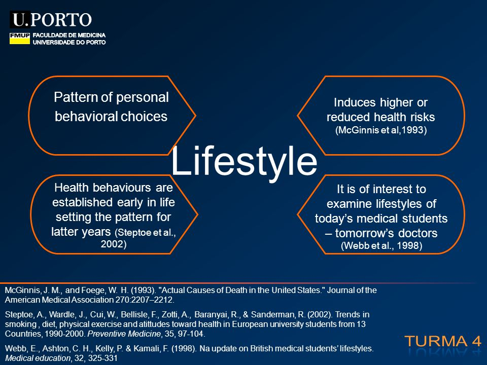 Induces higher or reduced health risks (McGinnis et al,1993)