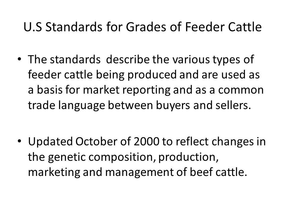 U.S Standards for Grades of Feeder Cattle