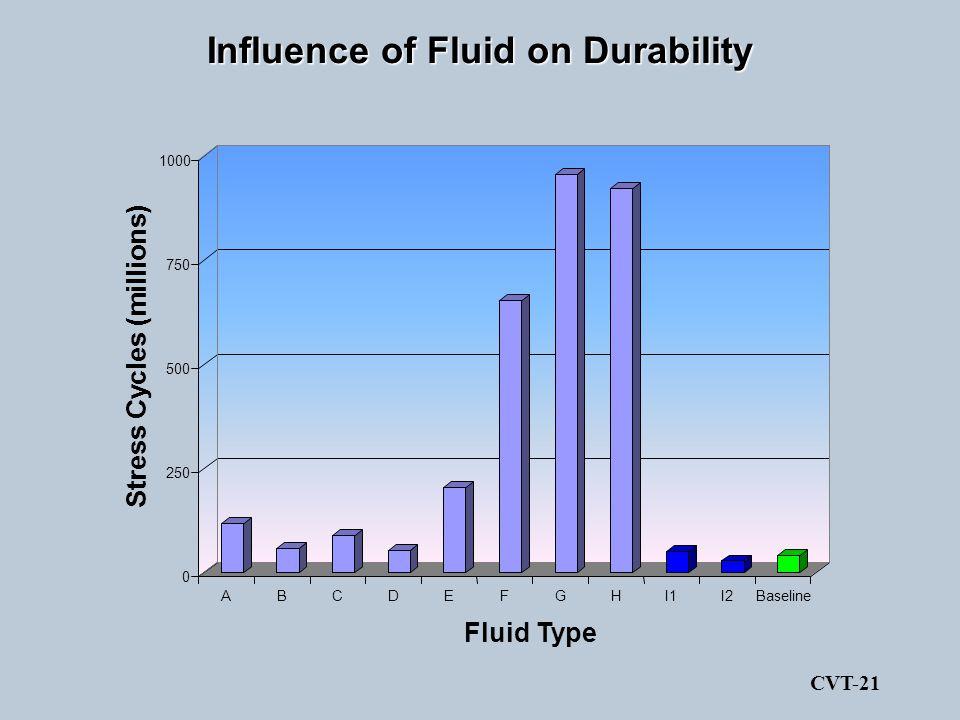 Influence of Fluid on Durability