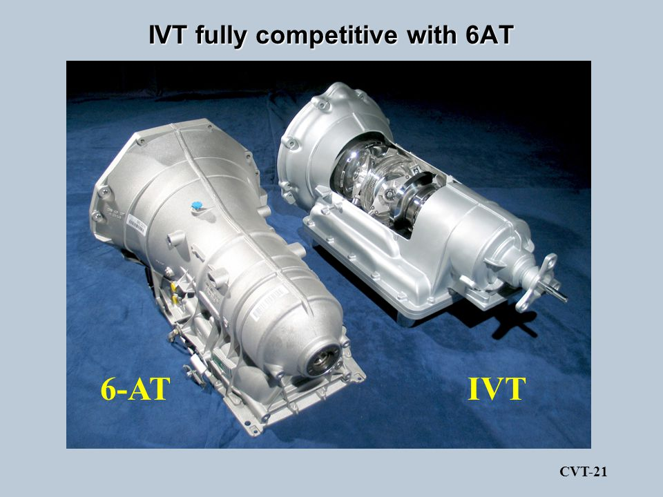 IVT fully competitive with 6AT
