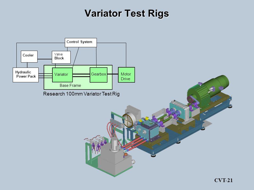 Variator Test Rigs CVT-21 Research 100mm Variator Test Rig Base Frame